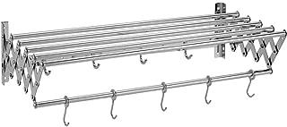 41,34 x 22,8 x 13 Pouces 7 Barres en Acier Inoxydable Chauffe-Serviettes Chauffant Support de Rail pour s/èche-Linge BILLYS HOME Porte-Serviettes Chauffant /électrique