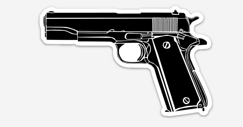 KillerBeeMoto: Vinyl Sticker of M 1911 .45 Automatic wholesale Hand El Paso Mall Pistol