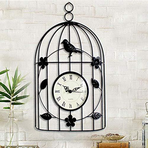 Reloj Colgante de jardín al Aire Libre, Reloj de Pared de la Jaula de pájaros Indoor Roman Numeral Clock Dial, Decoración de Estilo Antiguo Relojes Colgantes, para el hogar Decoración