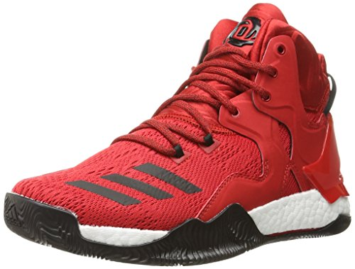 adidas Performance Herren D Rose 7 Basketballschuh, Rot (Scarlet/Black White), 50 EU