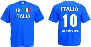 Italia / Italien Herren T-Shirt Trikot mit Wunschname & Nummer 