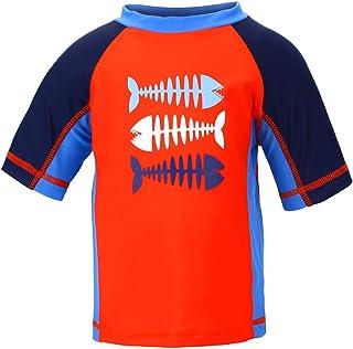 comprar comparacion LACOFIA Traje de baño de Manga Corta para bebé Camiseta de baño para niños con protección Solar UPF 50 + Secado rapido
