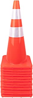 "12 Pack 28"" Traffic Cones Plastic Road Cone Safety Road Parking Cones Weighted Hazard PVC Cones Construction Cones for Tra..."