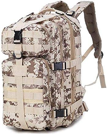 CE-LXYYD JSH1566 Zaino per allaperto, Escursioni, Campeggio, Trekking, Borsa Bug out, Viaggi, Militare e Tattica, Zaino Scolastico,DesertDigital