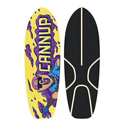 TTKD Patinetas Completas de 22 Pulgadas Mini Cruiser Retro Skateboard para niños, niños, jóvenes, Principiantes, 7 Capas, Arce, Doble Patada cóncava, premios de Competencia de monopatín