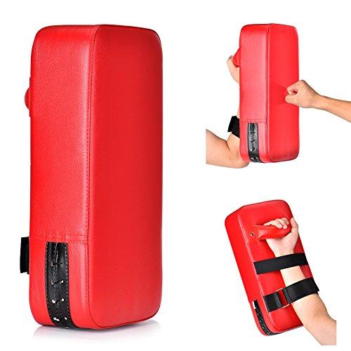 Queta PU Leder Schlagpolster Schlagkissen Handpratzen Schlagpratzen Kickschild Boxsack für Kickboxen Thaiboxen Karate UFC MMA (1)