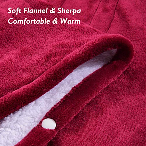 MaxKare Electric Blanket Heated Throw Flannel & Sherpa Reversible Fast Heating Blanket 50 x 60, ETL Certification with 3 Heating Levels & 4 Hours Auto Off, Home Office Use & Machine Washable