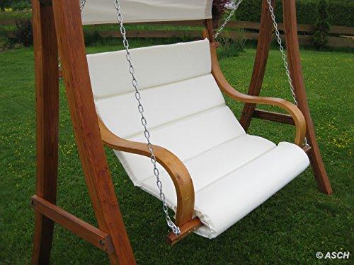 ASS Design Sitzbank für Hollywoodschaukel SEAT-MERU aus Holz Lärche inkl. Dach (ohne Gestell!!) von - 3