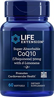 Life Extension Super-Absorbable CoQ10 (Ubiquinone) 50 mg with d-Limonene Heart Health Support Supplement - Promotes Health...