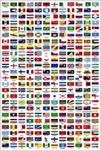 YYLPRQQ Klassische Plakate Und Drucke Leinwand Malerei Wandkunst Bilder Weltflagge Für Wohnkultur Poster Drucken 60X80Cm