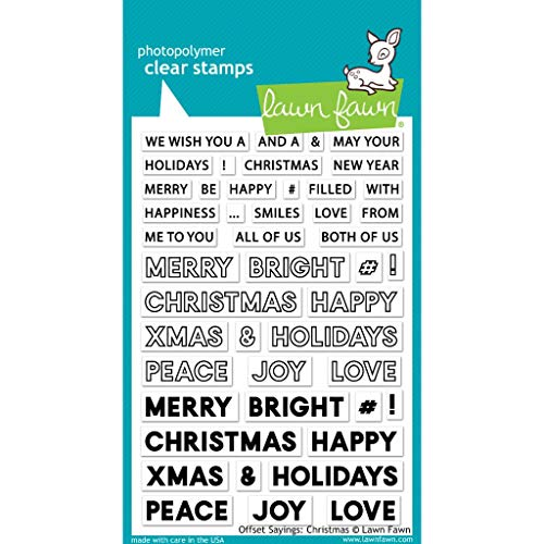 Lawn Fawn Offset Sayings: Christmas 4'x6' Clear Stamp Set (LF2026)