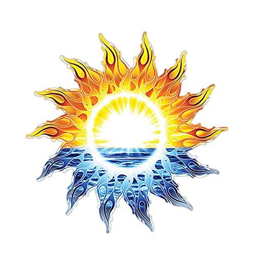 ZCZWQ Tribal Sun Ocean Graphic Car Sticker Adesivo Decalcomania Car Window Decorative Vinyl Cover Impermeabile PVC 12cm x 12 cm (Color Name : Beige, Size : 24cm x 24cm)