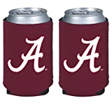 NCAA College 2014 Team Logo Color Can Kaddy Holder Cooler 2-Pack (Alabama Crimson Tide)