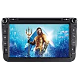 7' AUTORADIO DVD GPS Navigation BT DAB VMCD Für VW Golf 5/6 Passat CC Tiguan Polo Jetta Up Touran Candy Sharan Amarok New Beetle 2 Scirocco EOS Skoda Seat (8 Zoll)