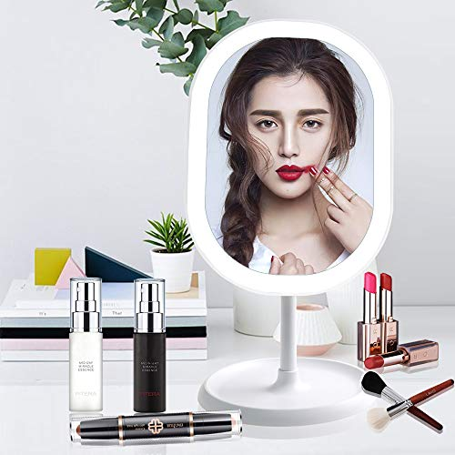 Juhefa Espejo de Maquillaje LED