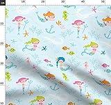 Meerjungfrauen, Meer, Ozean, Marine, Seestern, Seepferdchen