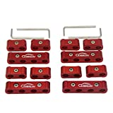 LEDAUT 12pc Spark Plug Wire Separator Divider 8mm 9mm 10mm For Racing Car (Red)
