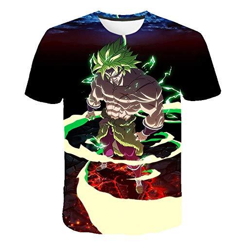MEIPINPAI Camiseta con Estampado 3D Dragonball para Hombre, diseño Interesante, Ideas de Regalos, Camiseta Delgada Personalizada-Color del patrón_XXL