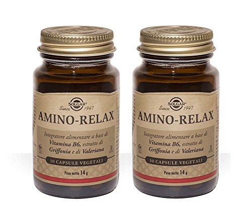 SOLGAR-AMINO RELAX 2 CONFEZIONI DA 30 CAPSULE VEGETALI-Buon umore e rilassamento mentale