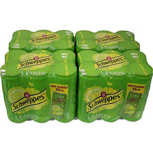 Schweppes Lemon 4 Pack á 6 x 0,33l eingeschweißt (24 Dosen Zitrone)