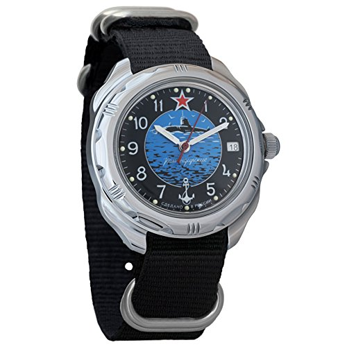 Vostok Komandirskie 2414 211163NB Russische Militärische U-Boot U-Boot U-Boot Mechanische Uhr