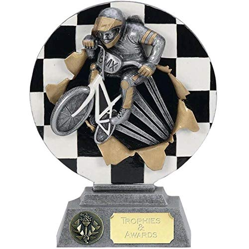 Trophies Plus Medals Silver X-Plode BMX Rider Award 16cm (6 1/4') FREE ENGRAVING
