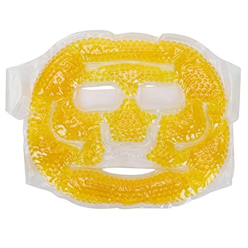 Mascarilla refrescante reutilizable, mascarilla para ojos portátil, paquete facial de cuentas de gel que alivia el dolor de cabeza, la fatiga ocular, elimina las ojeras para mujeres y hombres