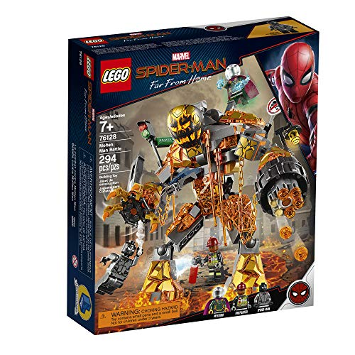 LEGO Marvel Spider-Man Far From Home: Molten Man Battle 76128 Building Kit (294 Pieces)