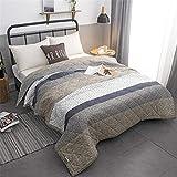 Fansu Tagesdecke Bettüberwurf Steppdecke Mikrofaser Doppelbett Einselbetten Gesteppt Bettwäsche Sofaüberwurf Wohndecke Bettdecke Stepp Gesteppter Quilt (Khaki,150x200cm)