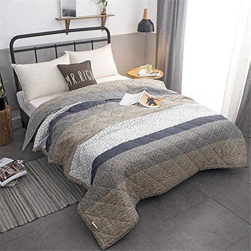 Fansu Tagesdecke Bettüberwurf Steppdecke Mikrofaser Doppelbett Einselbetten Gesteppt Bettwäsche Sofaüberwurf Wohndecke Bettdecke Stepp Gesteppter Quilt (Khaki,200x230cm)