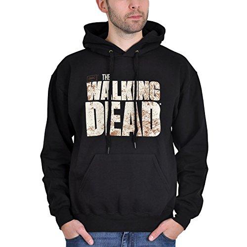 The Walking Dead - felpa con cappuccio - hoodie - logo sul davanti e stampa sul retro - nero - L