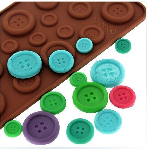 Fendii - Stampino in silicone per realizzare decorazioni per torta a forma di bottoni 3D