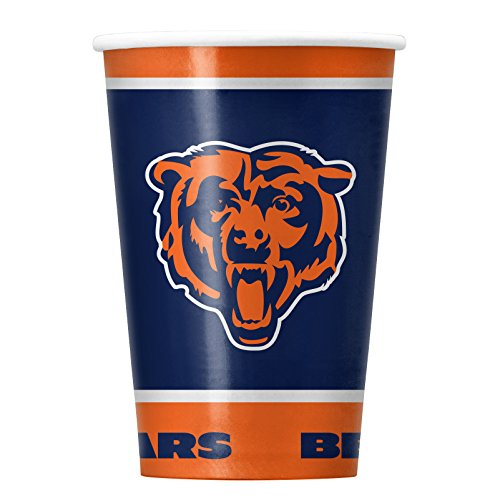 NFL Chicago Bears Disposable Paper Cups, Pack of 20