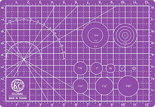 KC GLOBAL A4 13quotx9quot Professional Grade SelfHealing Cutting Mat Purple  OdorFree DoubleSided EcoFriendly NonSlip Premium Desk mat for DIY Crafting Model Building and Art Projects