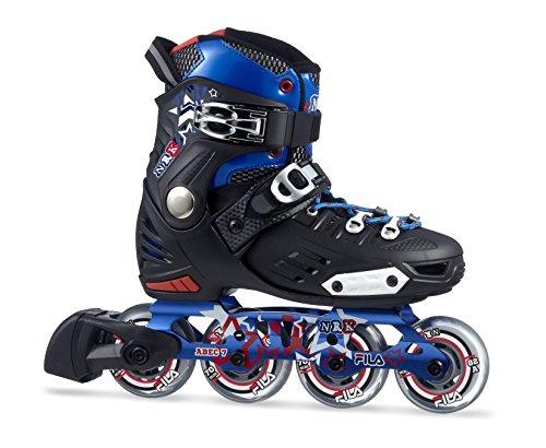 Fila Jungen NRK Junior Inline Skate, schwarz/Blau/Rot, 36-39