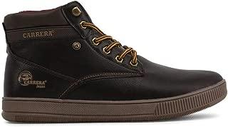 Carrera Jeans Men's Ronnie Sneakers CAM825001 - Dark Brown - 40