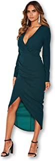 AX Paris Women's Wrap Front Midi Dress