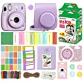 Fujifilm Instax Mini 11 Instant Camera with Case, 40 Fuji Films, Decoration Stickers, Frames, Photo Album and More Accessory kit (Lilac Purple)