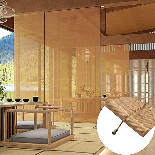 Estores Enrollables Persianas Exteriores Enrollables, Cortina de Bambú con Protección UV/ Tracción Lateral, para Hotel de Oficina/ A Prueba de Polvo, 60/80/100/120/140 cm de Ancho ( Size : 60x80cm )