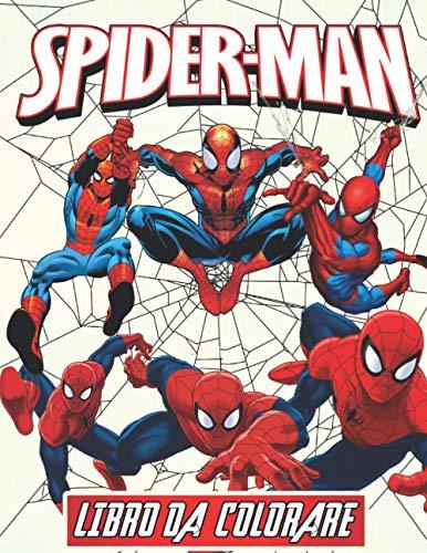 Spiderman Libro da colorare: +70 Illustrazioni Di Alta Qualità, Grande regalo per gli appassionati di Spiderman - Carino libro da colorare per bambini - Spiderman
