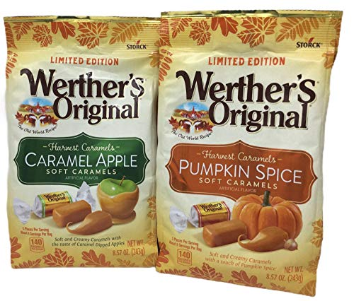Werthers Original Harvest Caramel Pack: Caramel Apple amp Pumpkin Spice Soft Caramels