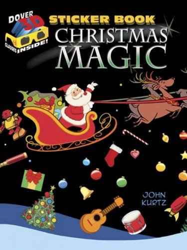 Christmas Magic Sticker Book [With 3-D Glasses] (Dover 3D Sticker Books)