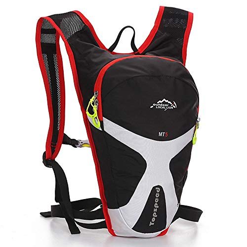 JIAGU Guadagna Daypack Zaino idratante Leggero Traspirante Adatto for Arrampicata su Trekking e Ciclismo 5L Pacchetto di idratazione (Color : Army Green, Size : 41 * 10 * 5m)