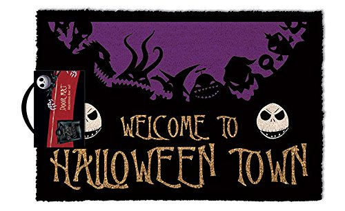 The Nightmare Before Christmas Felpudo Nightmare Before Christmas Halloween Town