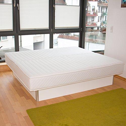 bellvita WASSERBETTEN inkl. Lieferung und AUFBAUSERVICE durch Fachpersonal, 180 cm x 200 cm (weiß)