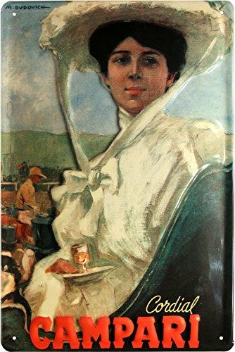 Cordial Campari Nostalgisches Reklame Motiv geprägt 20x30 cm Blechschild 1897