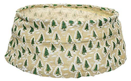Christbaumständer Abdeckung Verkleidung Natur Weihnachtsbaum Faltbar Leinen
