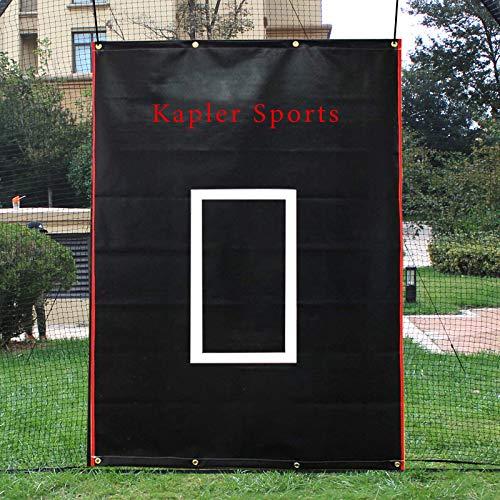 Kapler Vinyl Backstop Baseball/Softball Backstop Batting Cage Target with Bungees for Batting Hitting Pitching 6x8