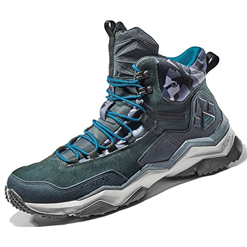Rax Men's Wild Wolf Mid Venture Waterproof Lightweight Hiking Boots,Carbon Black,9.5 D(M) US