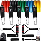 INTEY 13 PCS Resistance Bands with Handles Door Anchor, Exercise Bands up to 150lbs for Working out, Muscle Building, Physical Therapy. Original Goods only from Tekvilla, others sell counterfeit goods